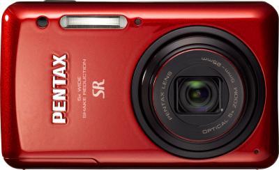 Компактный фотоаппарат Pentax Optio S1 (Red) - вид спереди