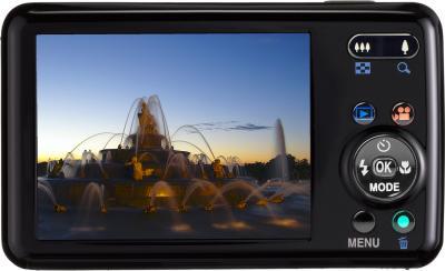 Компактный фотоаппарат Pentax Optio S1 (Black) - вид сзади