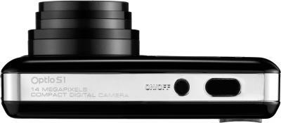 Компактный фотоаппарат Pentax Optio S1 (Black) - общий вид
