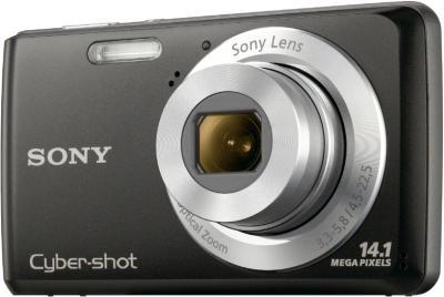 Компактный фотоаппарат Sony Cyber-shot DSC-W520 (Black) - общий вид