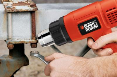 Технический фен Black & Decker KX-1650 - в работе