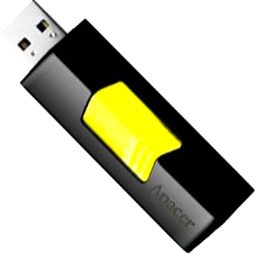 Usb flash накопитель Apacer Handy Steno AH332 (8Gb, Yellow) - общий вид