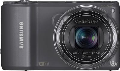 Компактный фотоаппарат Samsung WB250F (Silver, EC-WB250FFPARU) - вид спереди