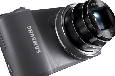 Компактный фотоаппарат Samsung WB250F (Silver, EC-WB250FFPARU) - общий вид