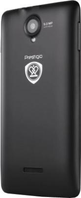Смартфон Prestigio Multiphone 5500 Duo (черный) - задняя панель
