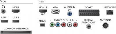 Телевизор Philips 24PFL4228T/60 - интерфейсы