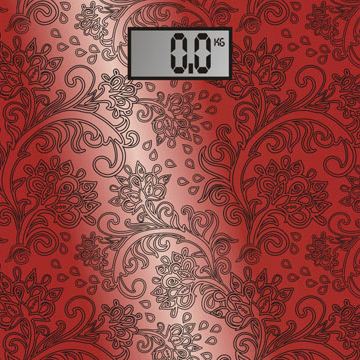 Напольные весы электронные Home Element HE-SC904 (красный) - общий вид