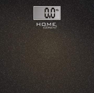 Напольные весы электронные Home Element HE-SC904 (черный металлик) - общий вид