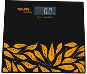 Напольные весы электронные Marta MT-1672 (Black-Orange) - общий вид