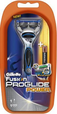 Бритвенный станок Gillette Fusion ProGlide Power (+ 3 кассеты) - общий вид