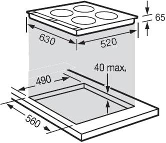 Индукционная варочная панель Fagor IF-40ALX - общий вид