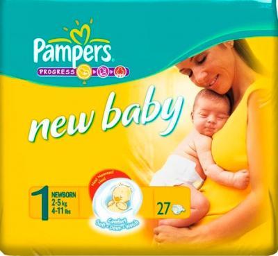 Подгузники Pampers New Baby 1 Newborn (27шт) - общий вид