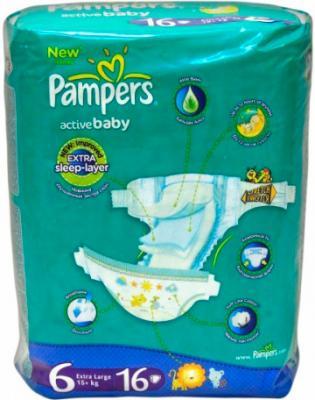 Подгузники Pampers Active Baby 6 Extra Large (16шт) - общий вид