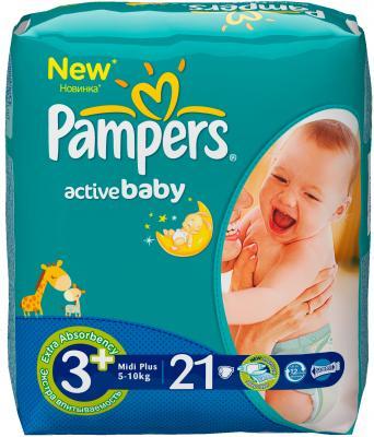 Подгузники Pampers Active Baby 3+ Midi Plus Regular Pack (21шт) - общий вид