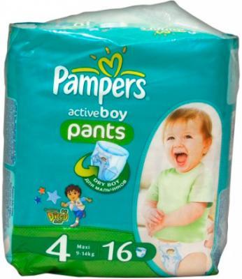 Подгузники-трусики Pampers Active Boy 4 Maxi (16шт) - общий вид