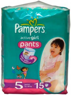 Подгузники-трусики Pampers Active Girl 5 Junior (15шт) - общий вид