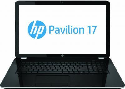 Ноутбук HP Pavilion 17-e078sr (E3Z62EA) - фронтальный вид