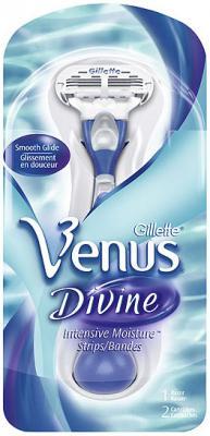 Бритвенный станок Gillette Venus Divine (+ 2 кассеты) - общий вид в упаковке