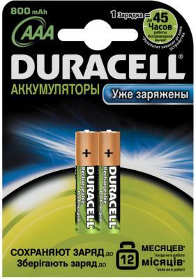 Аккумуляторы AAA Duracell HR03 (2шт, 800mAh) - общий вид в упаковке