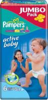Подгузники Pampers Active Baby 6 Extra Large Jumbo Pack (54шт) -