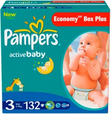 Подгузники Pampers Active Baby 3 Midi (132шт) - общий вид