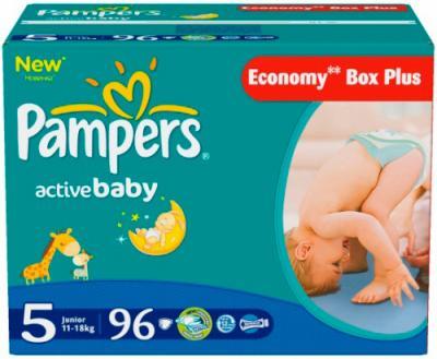 Подгузники Pampers Active Baby 5 Junior (96шт) - общий вид