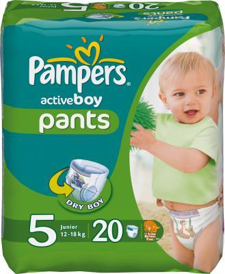 Подгузники-трусики Pampers Active Boy 5 Junior Carry Pack (20шт) - общий вид