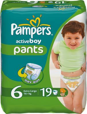 Подгузники-трусики Pampers Active Boy 6 Extra Large Carry Pack (19шт) - общий вид