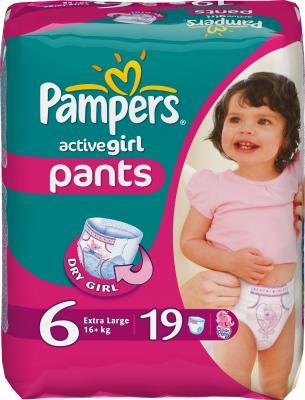 Подгузники-трусики Pampers Active Girl 6 Extra Large (19шт) - общий вид