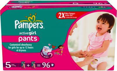 Подгузники-трусики Pampers Active Girl 5 Junior Mega Pack (96шт) - общий вид