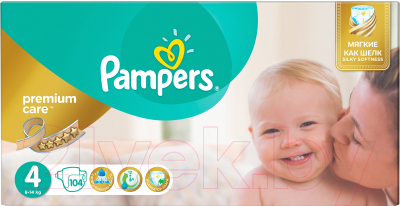 Подгузники Pampers Premium Care 4 Maxi Mega Pack (104шт)