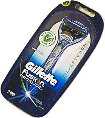 Бритвенный станок Gillette Fusion ProGlide Silver (+ 2 кассеты для ч/кожи) - общий вид в упаковке