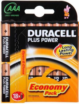 Батарейки ААА Duracell Basic LR03 (18шт, алкалиновые) - общий вид в упаковке