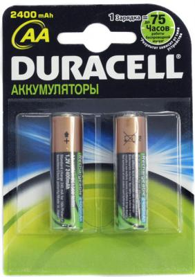 Аккумуляторы AA Duracell HR6 (2шт, 2400mAh) - общий вид