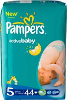 Подгузники Pampers Active Baby 5 Junior Value Pack (44шт, 11-18 кг) -