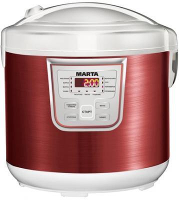 Мультиварка Marta MT-1965 (белый/красный металлик) - общий вид