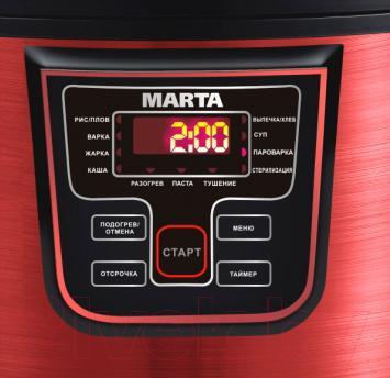 Мультиварка Marta MT-1965 (черный/красный металлик)