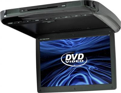 Потолочный монитор Intro JS-1542 DVD - общий вид (черный)