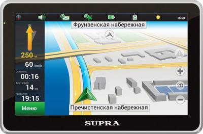GPS навигатор Supra SNP-502 - общий вид