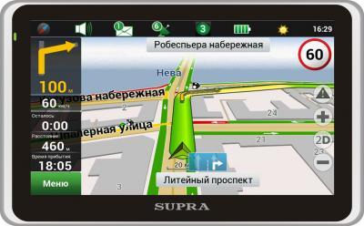 GPS навигатор Supra SNP-508VR - общий вид