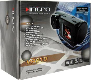 Автомобильный видеорегистратор Intro VR-219 - коробка