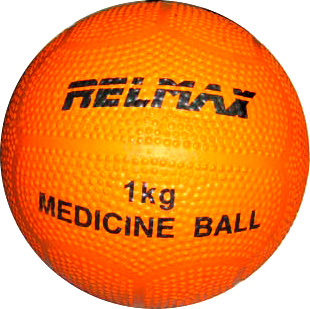 Медицинбол Relmax 1kg (оранжевый) - общий вид