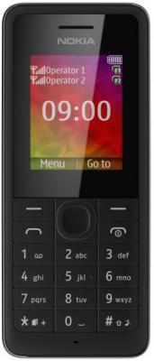 Мобильный телефон Nokia 107 Dual (Black) - общий вид