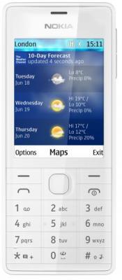 Мобильный телефон Nokia 515 Dual (белый) - общий вид