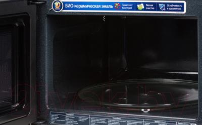 Микроволновая печь Samsung MS23F302TAK - с открытой крышкой