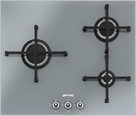Газовая варочная панель Smeg PV163S - общий вид