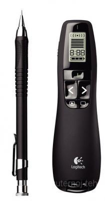 Универсальный пульт ДУ Logitech Professional Presenter R700 (910-003507) - небольшие размеры в сравнении с ручкой