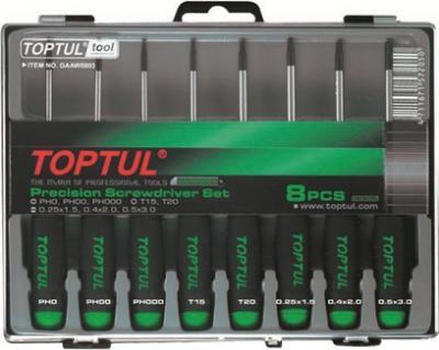 Набор однотипного инструмента Toptul GAAW0803 (8 предметов) - общий вид