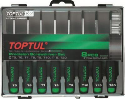 Набор однотипного инструмента Toptul GAAW0801 (8 предметов) - общий вид