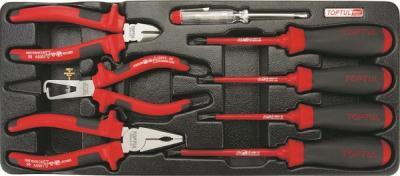 Универсальный набор инструментов Toptul GAAT0810 (8 предметов) - общий вид